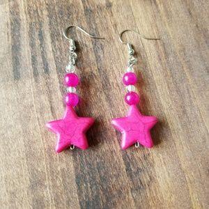 Jewelry - Chibi Moon Earrings/Pink Heart Earrings/Chibi Moon